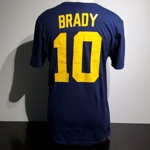 Nike Athletic Cut Tom Brady Michigan T Shirt